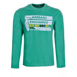 Majica z dolgimi rokavi Armani - zelena