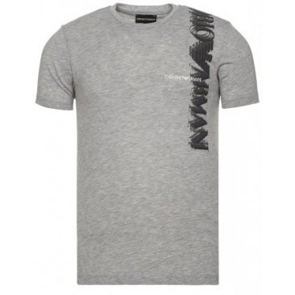 Majica s kratkimi rokavi Emporio Armani - siva s potiskom