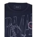 Majica s kratkimi rokavi Armani Jeans - temno modra