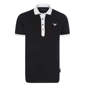Polo majica EMPORIO ARMANI - črna