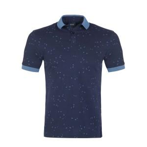 Polo majica ARMANI JEANS - temno modra potiskana
