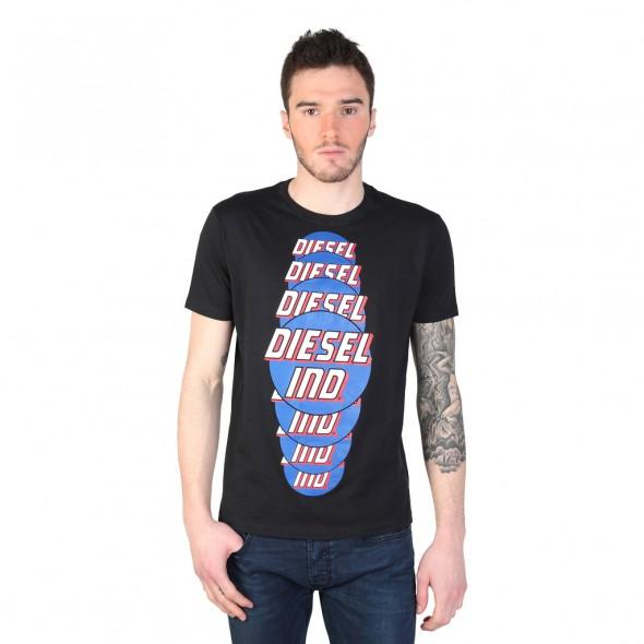 Majica s kratkimi rokavi Diesel - črna s potiskom