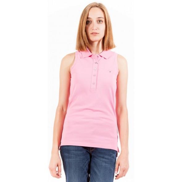 Polo majica brez rokavov  Gant - roza