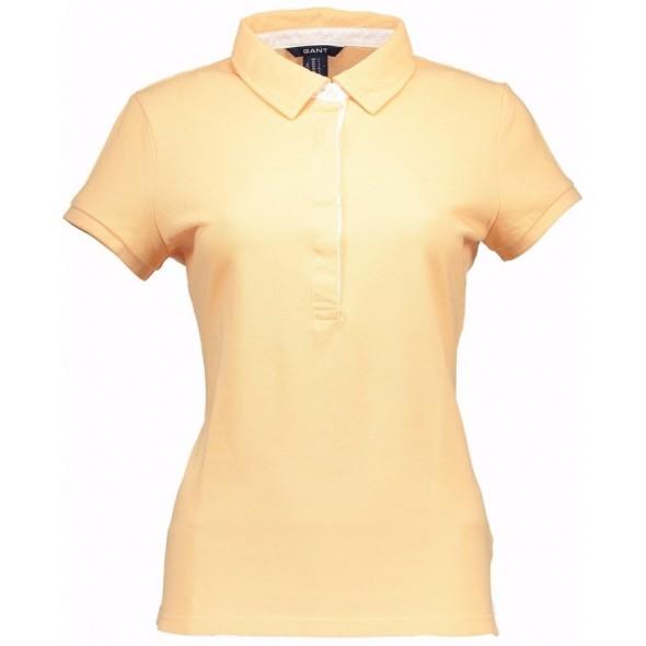 Polo majica Gant - svetlo oranžna