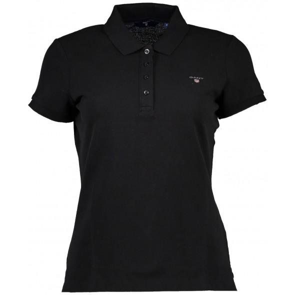 Polo majica Gant - črna