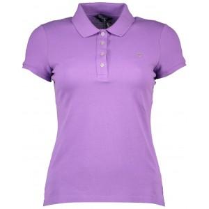 Polo majica Gant - vijolična