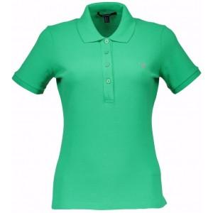 Polo majica Gant - zelena, zeleni gumbi