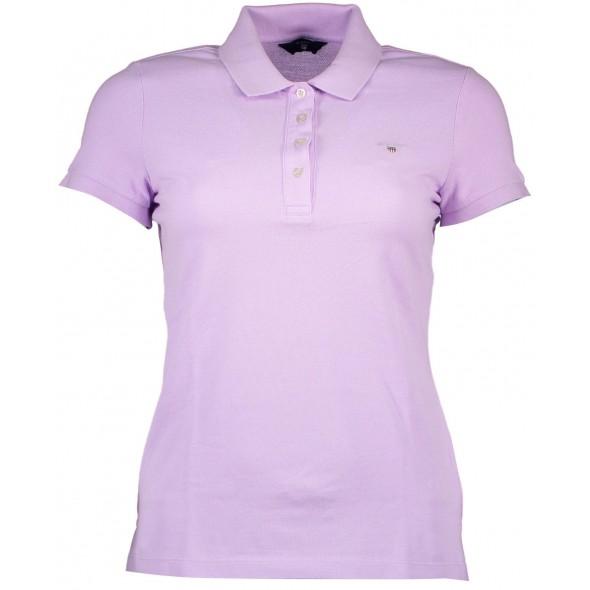 Polo majica Gant - svetlo vijolična
