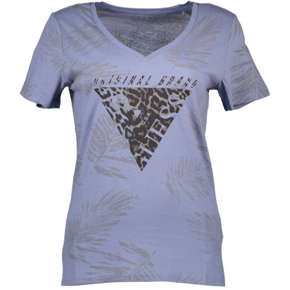 Majica s kratkimi rokavi Guess Jeans - svetlo modra