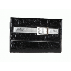 Denarnica Gattinoni - črna s srebrnim paščkom