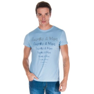 Majica s kratkimi rokavi Giorgio Di Mare - svetlo modra