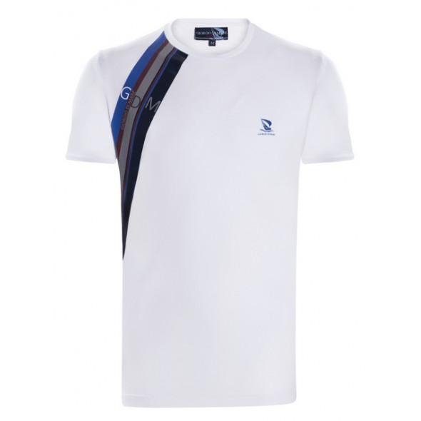 Majica s kratkimi rokavi Giorgio Di Mare - bela