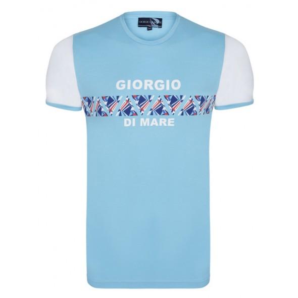 Majica s kratkimi rokavi Giorgio Di Mare - turkizna