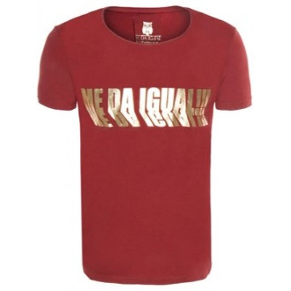 Majica s kratkimi rokavi Me Da Igual - rdeča