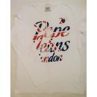 Majica z dolgimi rokavi Pepe Jeans - bela 'Flag'