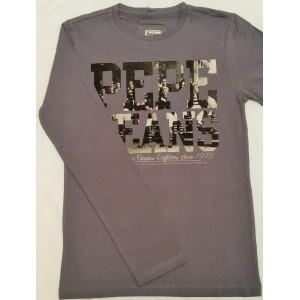 Majica z dolgimi rokavi Pepe Jeans - sivo-vijola 'Campus Outfit'