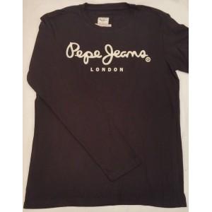 Majica z dolgimi rokavi Pepe Jeans - črna 'London'