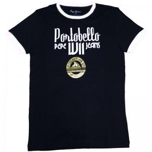 Majica s kratkimi rokavi Pepe Jeans - črna Portobello
