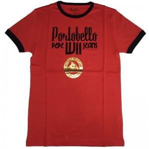 Majica s kratkimi rokavi Pepe Jeans - rdeča Portobello