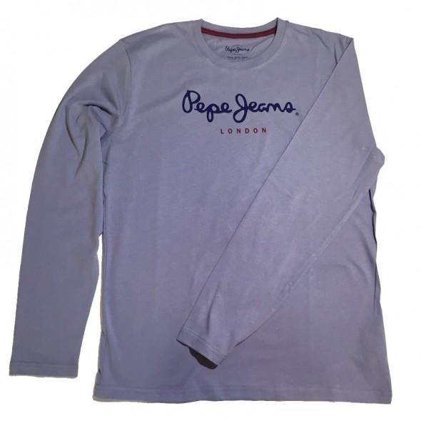 Majica z dolgimi rokavi Pepe Jeans - sivo-vijola 'London'