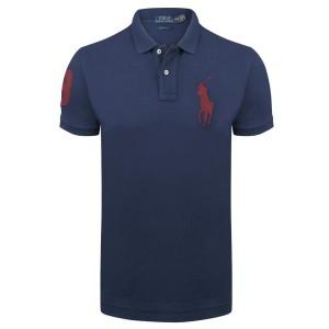 Polo majica Ralph Lauren custom fit - mornarsko modra Big Pony