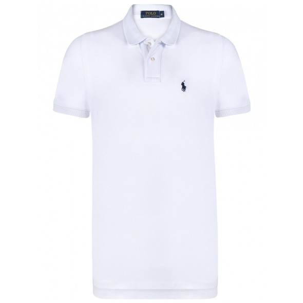 Polo majica Ralph Lauren custom fit - bela