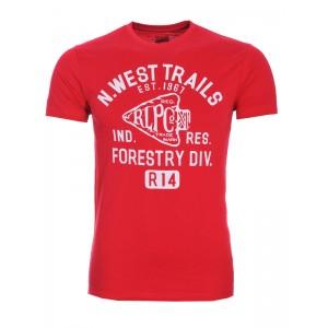 Majica s kratkimi rokavi Ralph Lauren - rdeča s potiskom