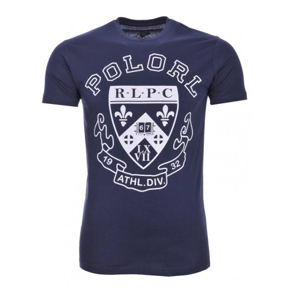 Majica s kratkimi rokavi Ralph Lauren - temno modra s potiskom