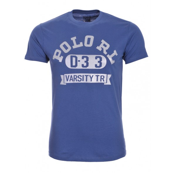 Majica s kratkimi rokavi Ralph Lauren - modra s potiskom