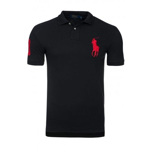 Polo majica Ralph Lauren slim fit - črna