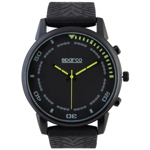 Ročna ura SPARCO, model NIGEL - črna/rumena