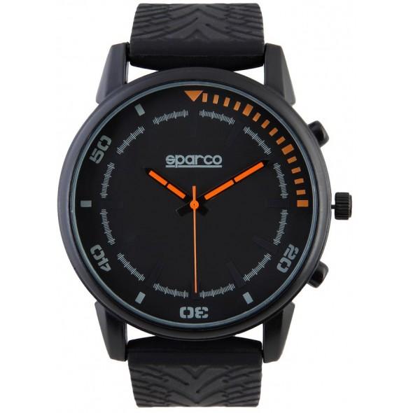 Ročna ura SPARCO, model NIGEL - črna/oranžna