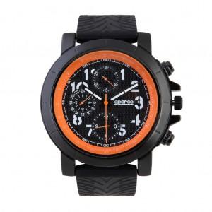 Ročna ura SPARCO, model JAMES - črna/oranžna