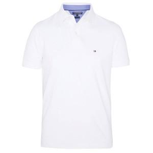 Polo majica Tommy Hilfiger classic fit - bela