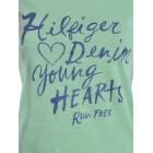 Majica s kratkimi rokavi Hilfiger Denim - zelena s potiskom Young Hearts