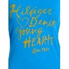 Majica s kratkimi rokavi Hilfiger Denim - modra s potiskom Young Hearts