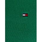 Pulover Tommy Hilfiger, V-izrez, temno zelen