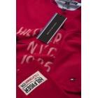 Majica s kratkimi rokavi Tommy Hilfiger - rdeča s potiskom