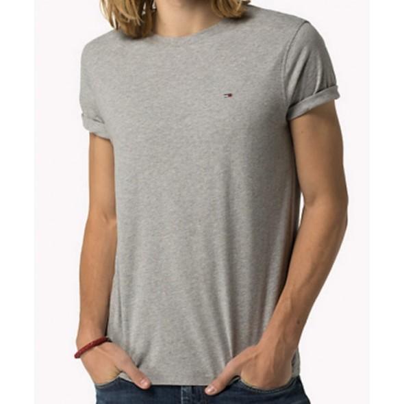 Majica s kratkimi rokavi Hilfiger Denim - siva
