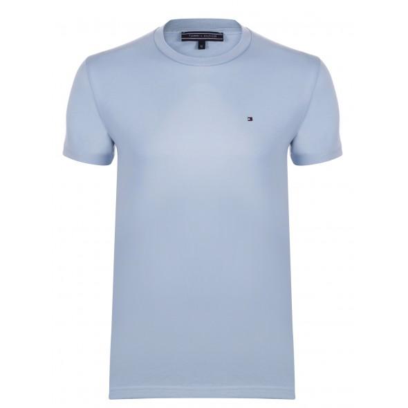 Majica s kratkimi rokavi Tommy Hilfiger - svetlo modra
